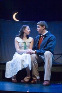 "Piper Goodeve and Nick Mannix in ""The Fantasticks."" Photo by Meghan Moore"